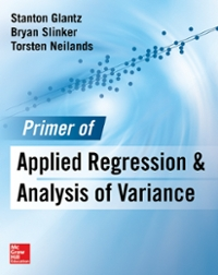 Primer  of Applied Regression & Analysis of Variance, Third Edition 3rd Edition 9780071822442 0071822445