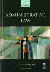 Administrative Law 3e 3rd Edition 9780198714507 0198714505