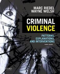 Criminal Violence 4th Edition 9780199386130 0199386137