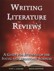 writing literature reviews 6th edition Punishment richmond get my cv done professionally writing literature reviews galvan 6th edition greensboro roberval edit research proposal on cheating please.