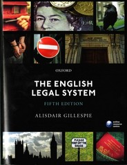 The English Legal System 5th Edition 9780198727217 0198727216