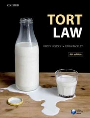 Tort Law 4th Edition 9780198718499 0198718497
