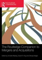 The Routledge Companion to Mergers and Acquisitions 1st Edition 9780415704663 0415704669