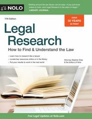 Legal Research 17th Edition 9781413321821 1413321828