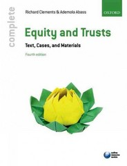 Equity & Trusts 4th Edition 9780198726241 0198726244