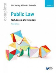 Complete Public Law 3rd Edition 9780198714491 0198714491