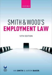 Smith & Wood's Employment Law 12th Edition 9780198727354 0198727356