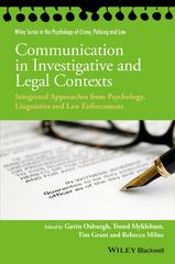 Communication in Investigative and Legal Contexts 1st Edition 9781118769232 1118769236