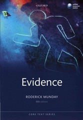Evidence 8th Edition 9780198733492 0198733496