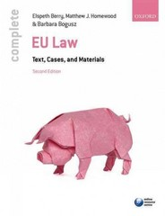 Complete EU Law 2nd Edition 9780198725770 0198725779