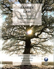 Family Law 3rd Edition 9780199664184 0199664188