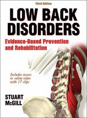 Low Back Disorders 3rd Edition 9781492520924 1492520926