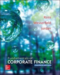 Fundamentals of Corporate Finance 11th Edition 9780077861704 0077861701