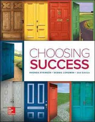 Loose Leaf for Choosing Success 2nd Edition 9781259592140 1259592146