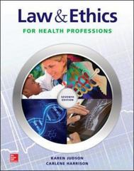 Loose Leaf for Law & Ethics for the Health Professions 7th Edition 9781259154201 1259154203