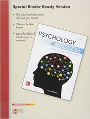 Loose Leaf for Psychology of Success 6th Edition 9781259605895 1259605892