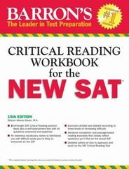 Barron's Critical Reading Workbook for the New SAT 15th Edition 9781438005768 1438005768