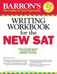 Barron's Writing Workbook for the New SAT 4th Edition 9781438006239 1438006233