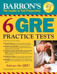 Barron's 6 GRE Practice Tests 2nd Edition 9781438006291 1438006292