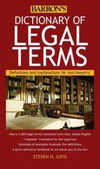 Dictionary of Legal Terms 5th Edition 9781438005126 1438005121
