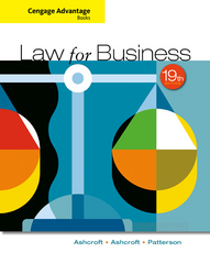 Cengage Advantage Books: Law for Business 19th Edition 9781305654921 1305654927