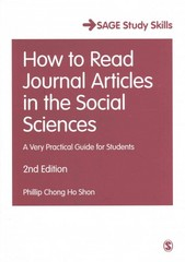 How to Read Journal Articles in the Social Sciences 2nd Edition 9781473918801 1473918804