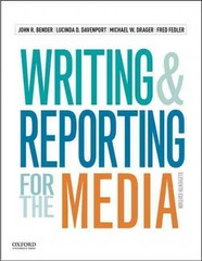 Writing and Reporting for the Media 11th Edition 9780190200886 019020088X