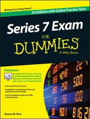 Series 7 Exam For Dummies, with Online Practice Tests 3rd Edition 9781119103752 1119103754