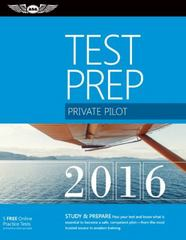Private Pilot Test Prep 2016 1st Edition 9781619542341 161954234X