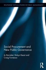 Social Procurement and New Public Governance 1st Edition 9780415858557 0415858550