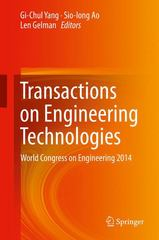 Transactions on Engineering Technologies 1st Edition 9789401798044 9401798044