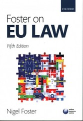 Foster on EU Law 5th Edition 9780198727590 0198727593