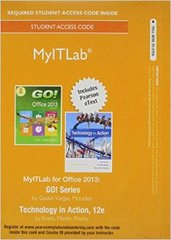 MyITLab with Pearson eText --  Access Card -- for GO! with Technology In Action 12th Edition 9780134150147 0134150147