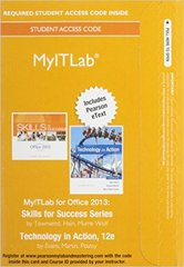 MyITLab with Pearson eText --  Access Card -- for Skills with Technology In Action 12th Edition 9780134139340 0134139348
