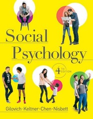 Social Psychology 4th Edition 9780393270518 0393270513