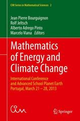 Mathematics of Energy and Climate Change 1st Edition 9783319161211 3319161210
