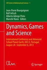 Dynamics, Games and Science 1st Edition 9783319161181 3319161180