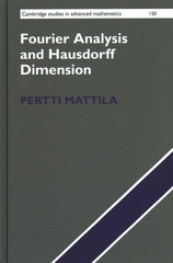 Fourier Analysis and Hausdorff Dimension 1st Edition 9781107107359 1107107350
