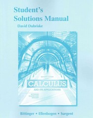 Students Solutions Manual for Calculus and Its Applications 11th Edition 9780321999054 0321999053