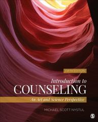 Introduction to Counseling 5th Edition 9781483316604 1483316602