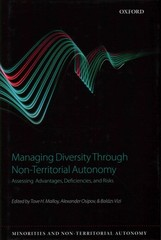 Managing Diversity through Non-Territorial Autonomy 1st Edition 9780191058325 0191058327