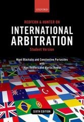 Redfern and Hunter on International Arbitration 1st Edition 9780191023675 0191023671