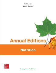 Annual Editions: Nutrition, 27/e 27th Edition 9781259359583 1259359581