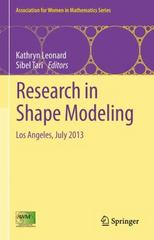 Research in Shape Modeling 1st Edition 9783319163482 3319163485