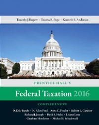Prentice Hall's Federal Taxation 2016 Comprehensive 29th Edition 9780134104379 0134104374