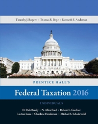 Prentice Hall's Federal Taxation 2016 Individuals 29th Edition 9780134105901 0134105907
