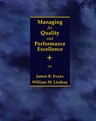 Managing for Quality and Performance Excellence 10th Edition 9781305662544 1305662547