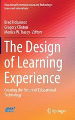 The Design of Learning Experience 1st Edition 9783319165042 3319165046