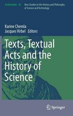 Texts, Textual Acts and the History of Science 1st Edition 9783319164441 3319164449