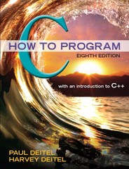 C How to Program 8th Edition 9780133976892 0133976890
